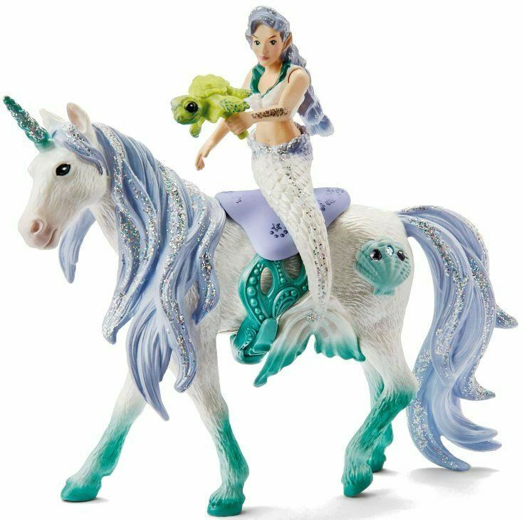 Mermaid Riding on Sea Unicorn