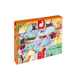 Janod A Day at the Zoo Tactile 20pc Puzzle