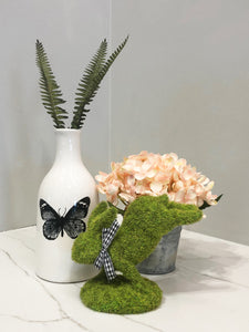 Mini Moss Bunny With Vase And Potted Plant