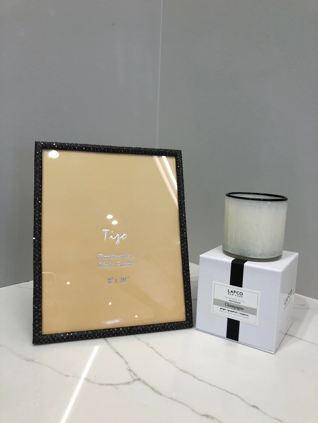 8 x 10 Tizo Picture Frame & Champagne Candle
