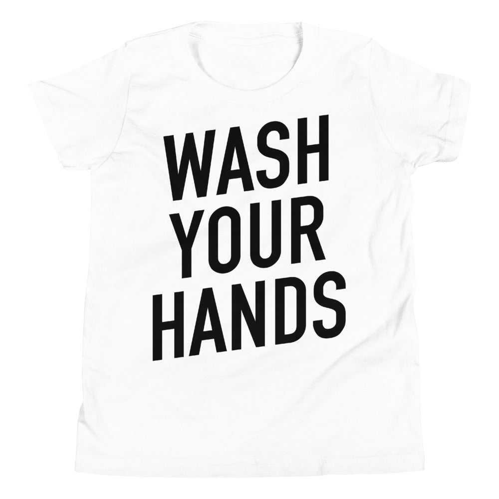 Wash Your Hands Youth Short Sleeve White T-Shirt
