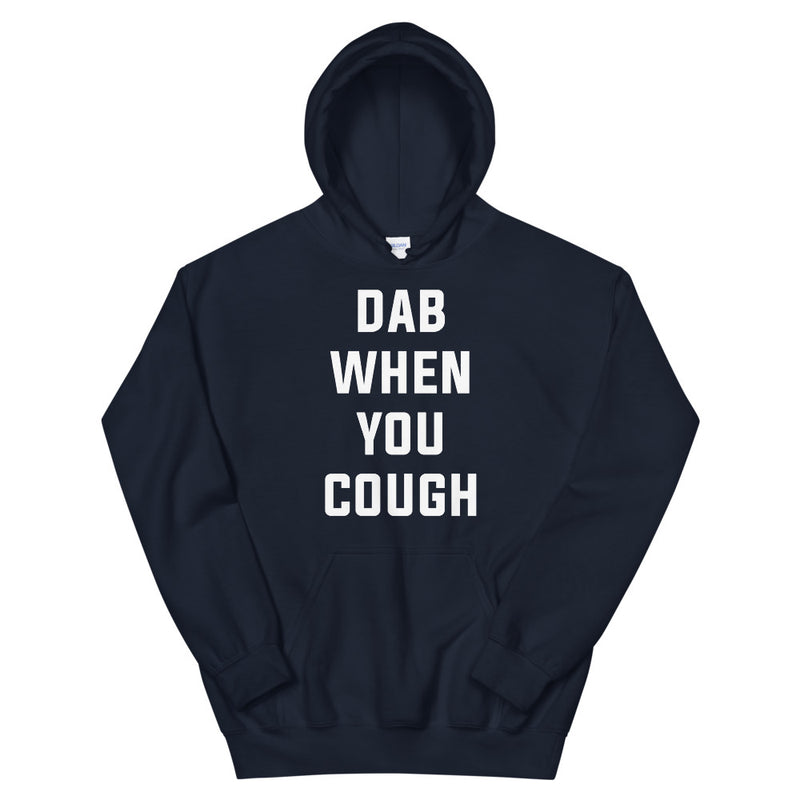 Dab When You Cough Unisex Navy Hoodie