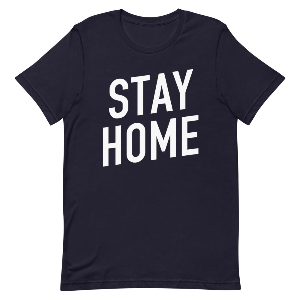 Stay Home Short-Sleeve Unisex Navy T-Shirt
