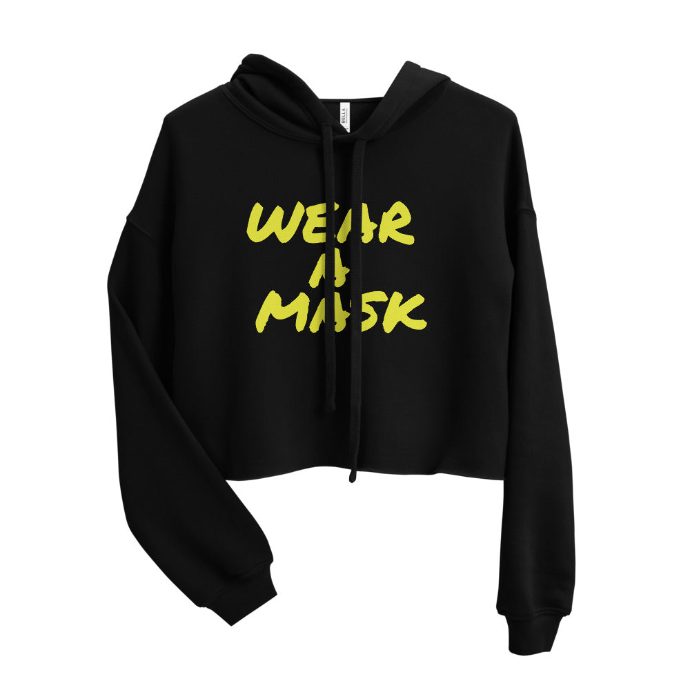 WEAR A MASK Cropped Women's Hoodie
