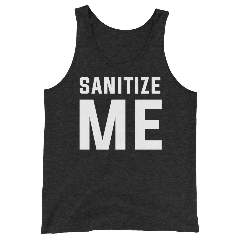 Sanitize Me Unisex Heather Black Tank Top