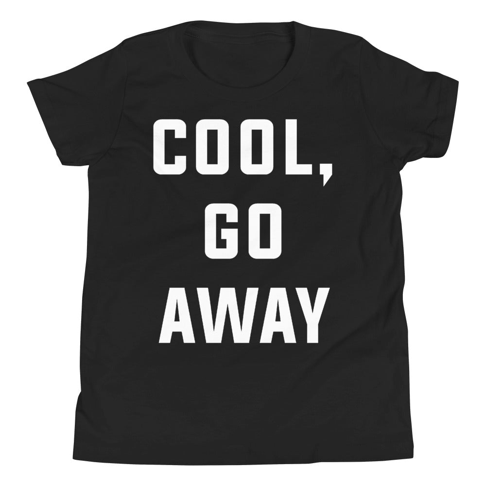 Cool Go Away Youth Short Sleeve Black T-Shirt