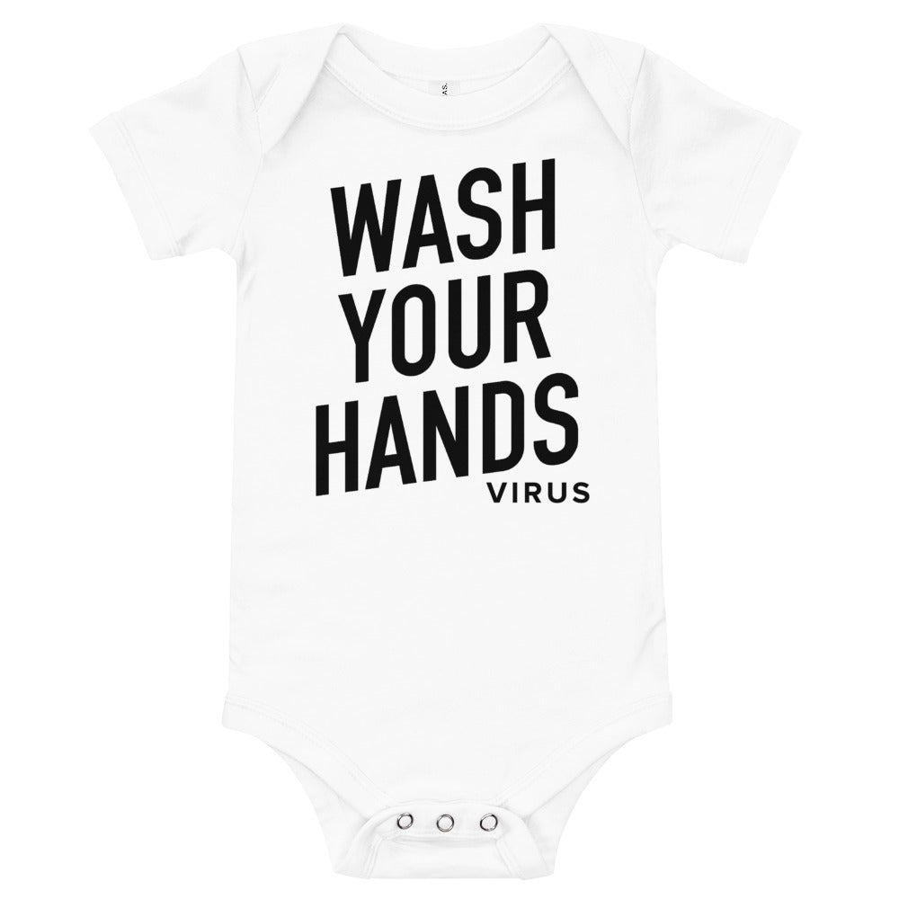 Wash Your Hands Infant White Onesie