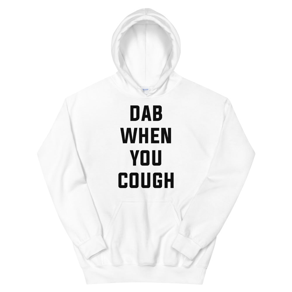 Dab When Your Cough Unisex White Hoodie