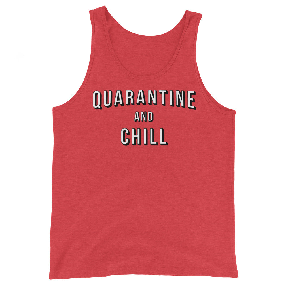 Red Quarantine and Chill Tank Top
