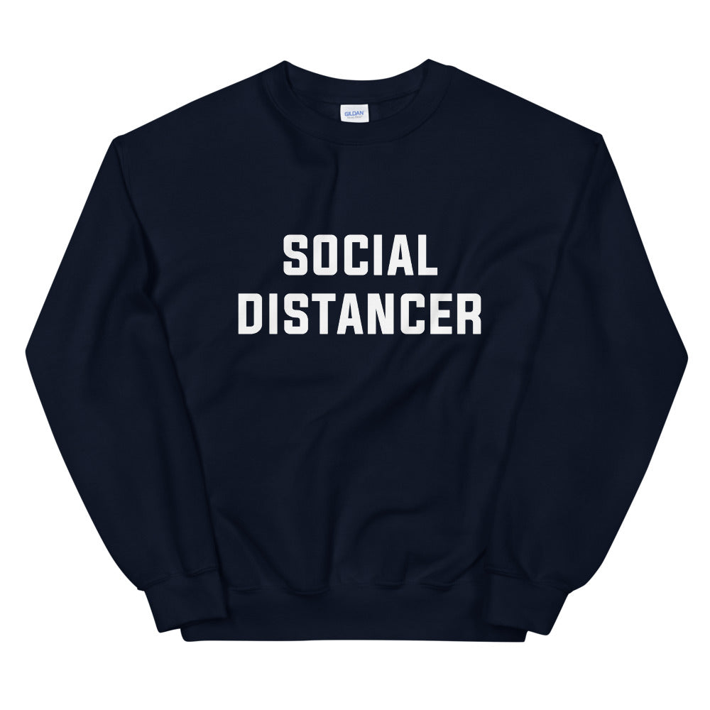 Social Distancer Unisex Navy Sweatshirt
