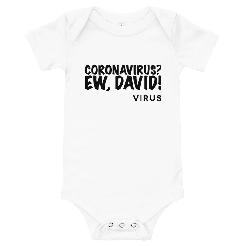Ew, David Infant White Onesie