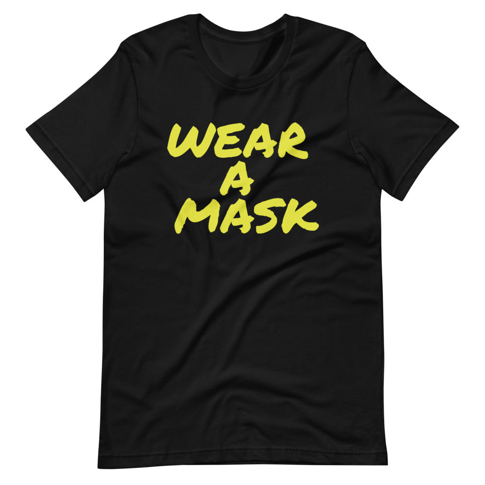 Wear a Mask Short-Sleeve Unisex Black T-Shirt
