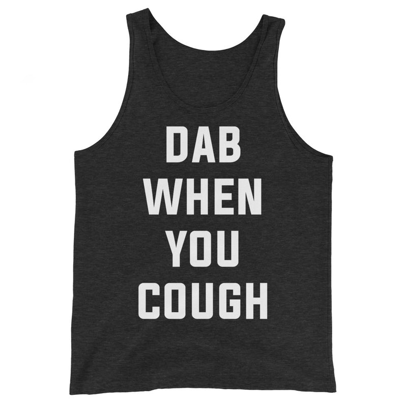 Dab When You Cough Unisex Black Heather Tank Top