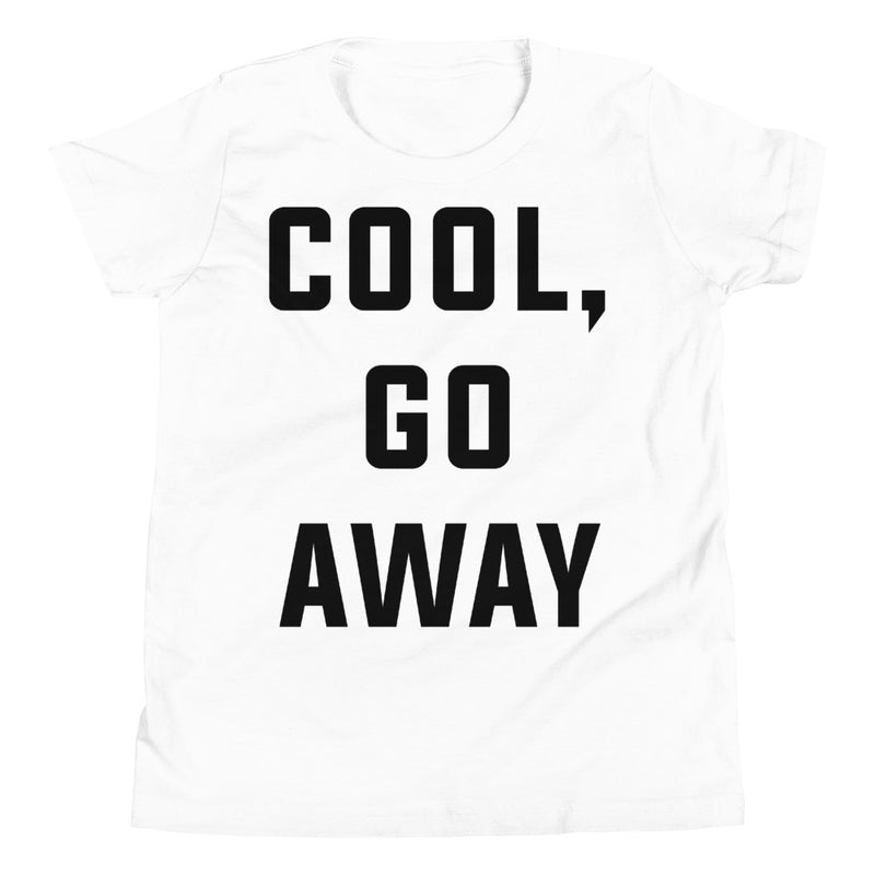 Cool Go Away Youth Short Sleeve White T-Shirt