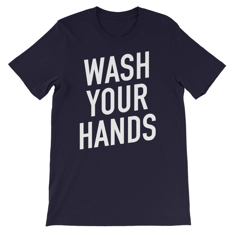 Wash Your Hands Short-Sleeve Unisex Navy T-Shirt