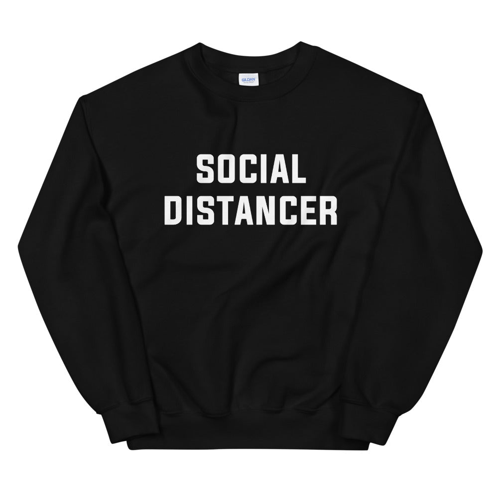 Social Distancer Unisex Black Sweatshirt