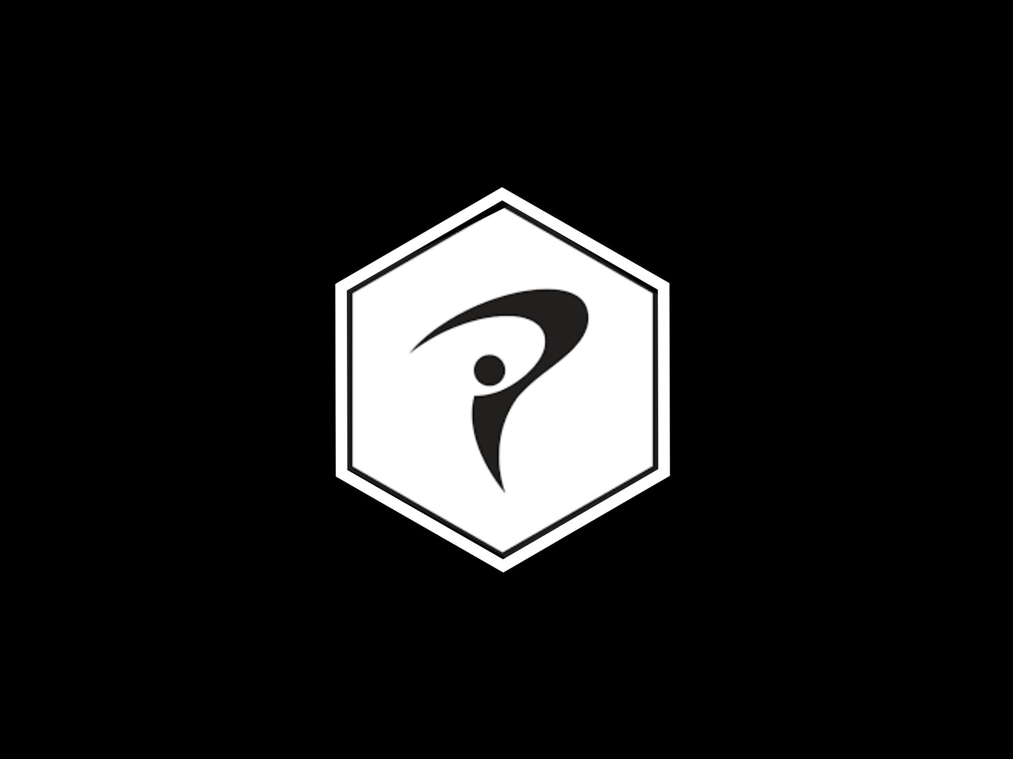 TPI (Titleist Performance Institute) logo of an abstract golfer in a hexagonal shape logo.