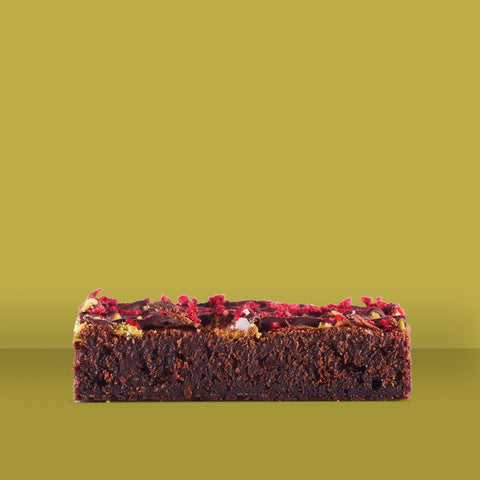 Raspberry Pistachio & Sea Salt Brownie