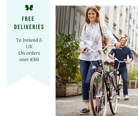 Free Deliveries in Ireland and UK on order over €60