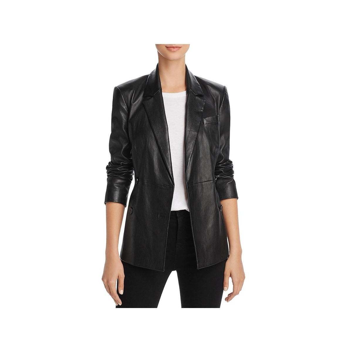 Bestseller Designer genuine leather Handmade womans Classic Black Leather Blazer: Guaranteed delivery within 4 working days after dispatch