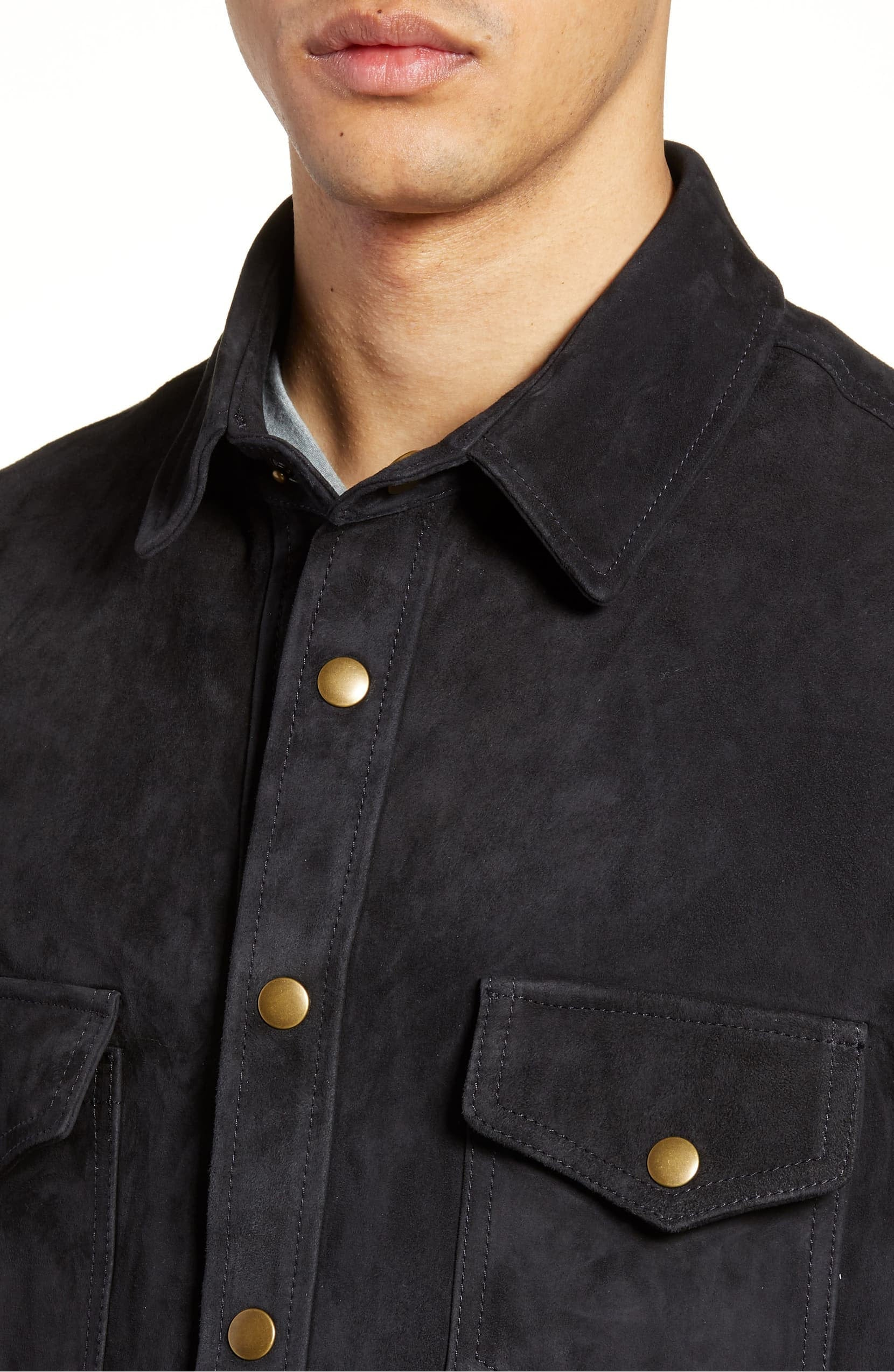 Designer genuine  leather  Handmade Man Suede Leather shirt: Guaranteed delivery within 4 working  days after dispatch