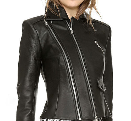 Designer genuine  leather  Handmade woman Bolero leather jacket: Guaranteed delivery within 4 working  days after dispatch
