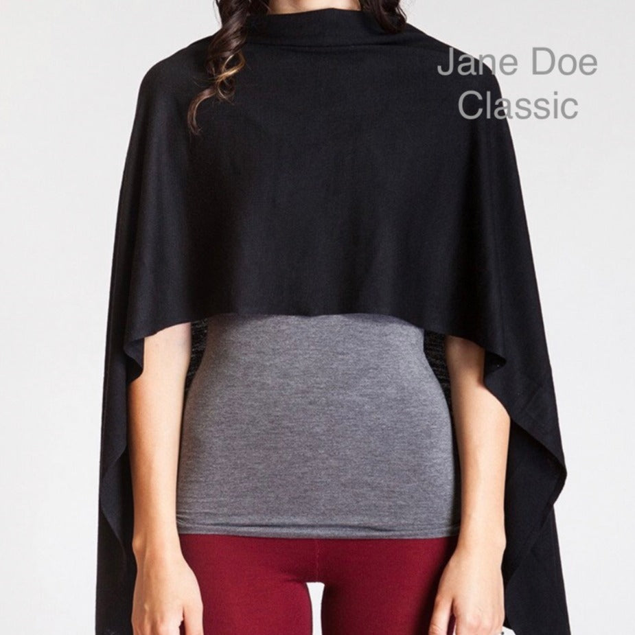 Jane Doe Classic Poncho in Black