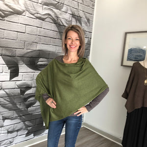 Jane Doe Classic Poncho in Seaweed