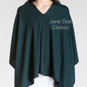 Jane Doe Classic Poncho in Forest Green