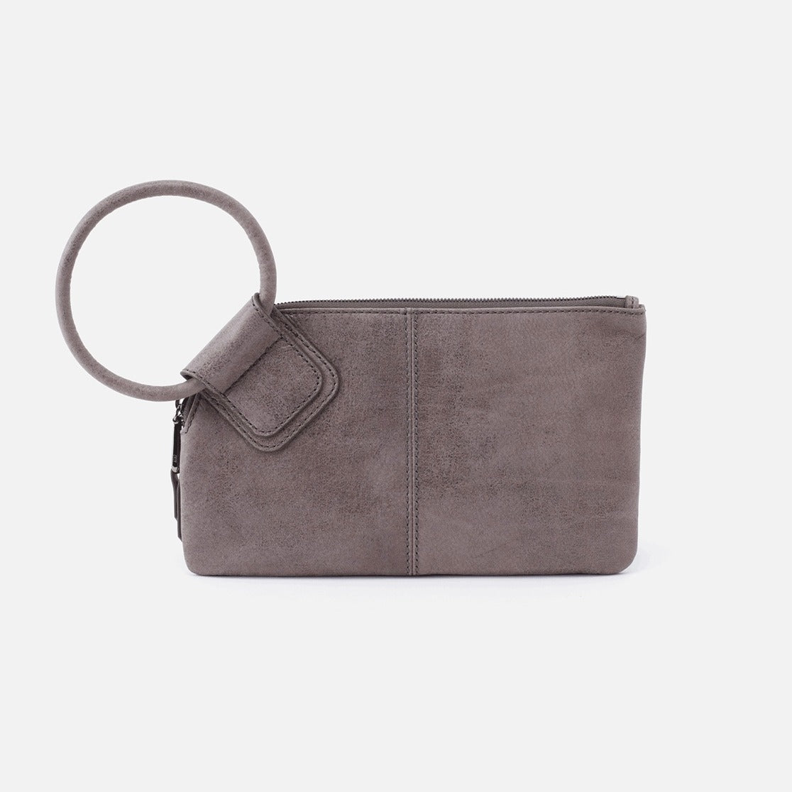 Sable Hobo Wristlet Clutch in Titanium