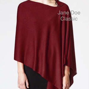 Jane Doe Classic Poncho in Cherry Red