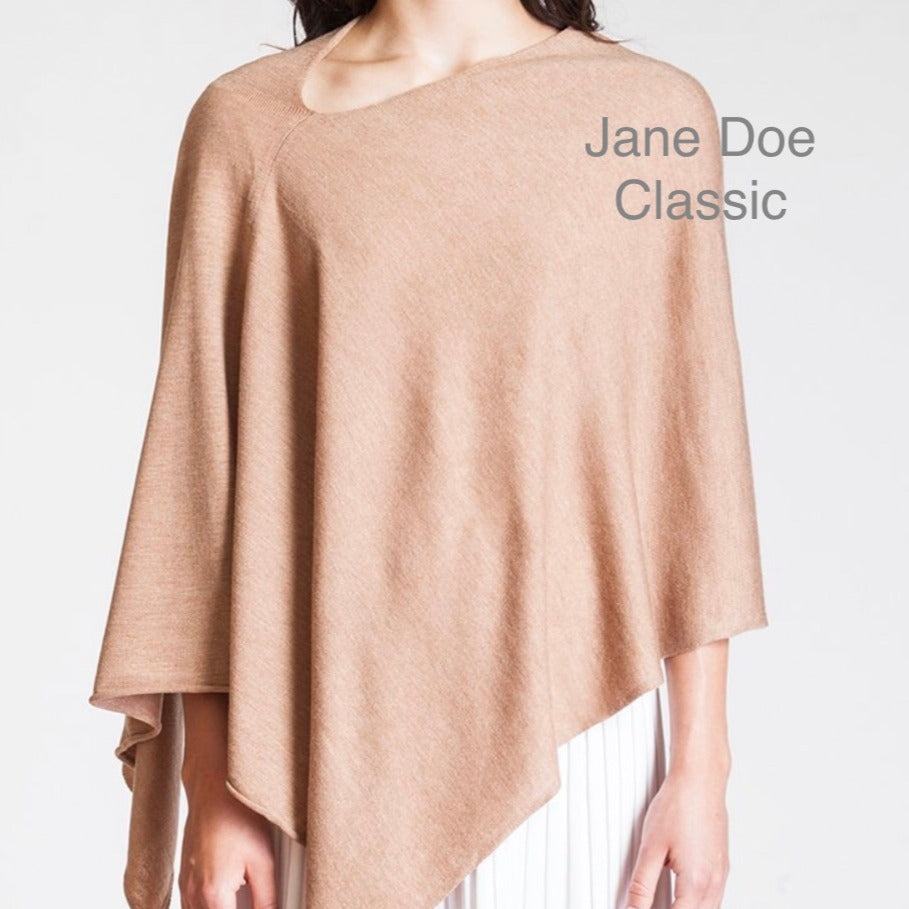 Jane Doe Classic Poncho in Camel