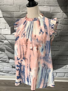 Zoe Blouse in Watercolor