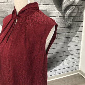 Charlotte Blouse in Ruby