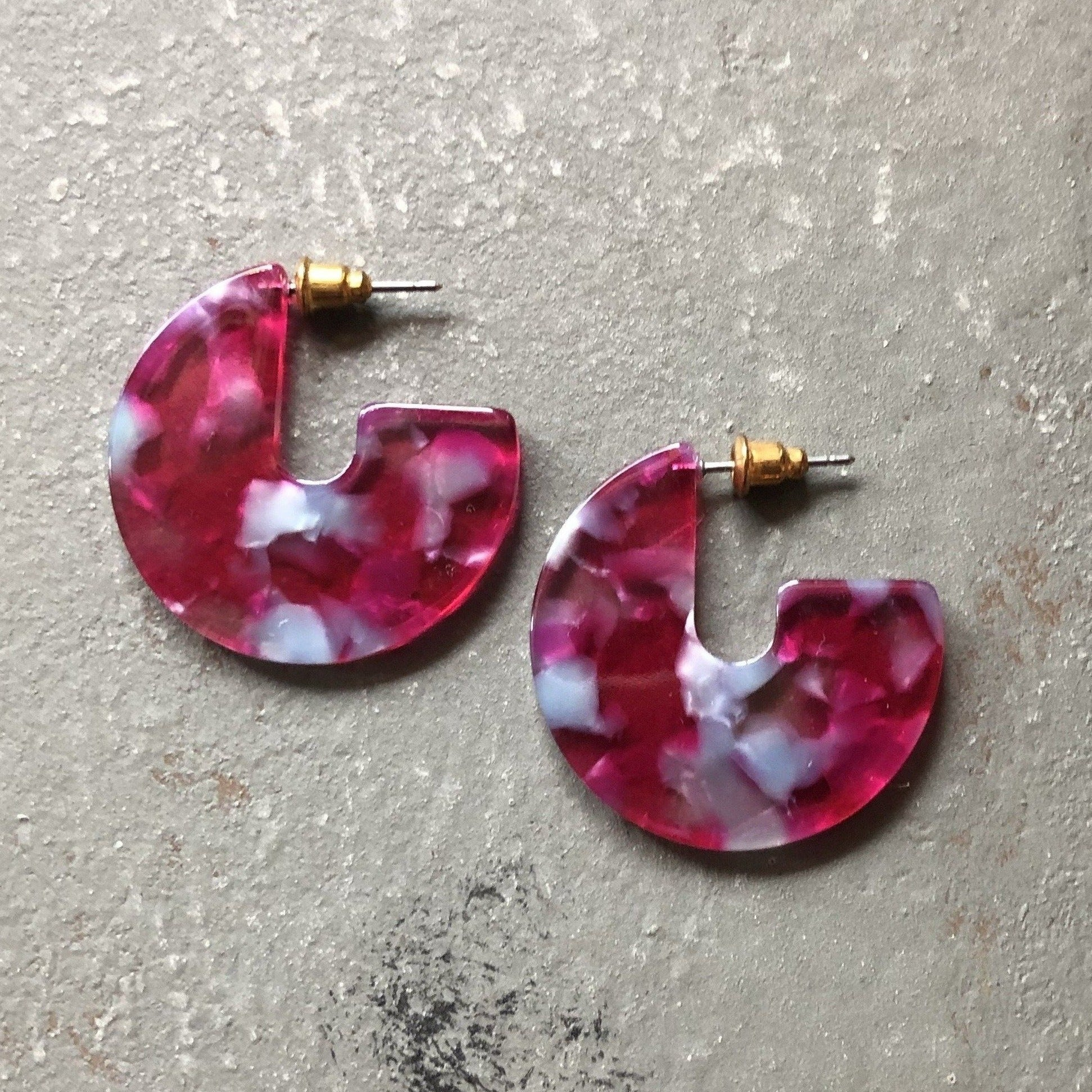 Selena Marbled Earring in Fall Sunset