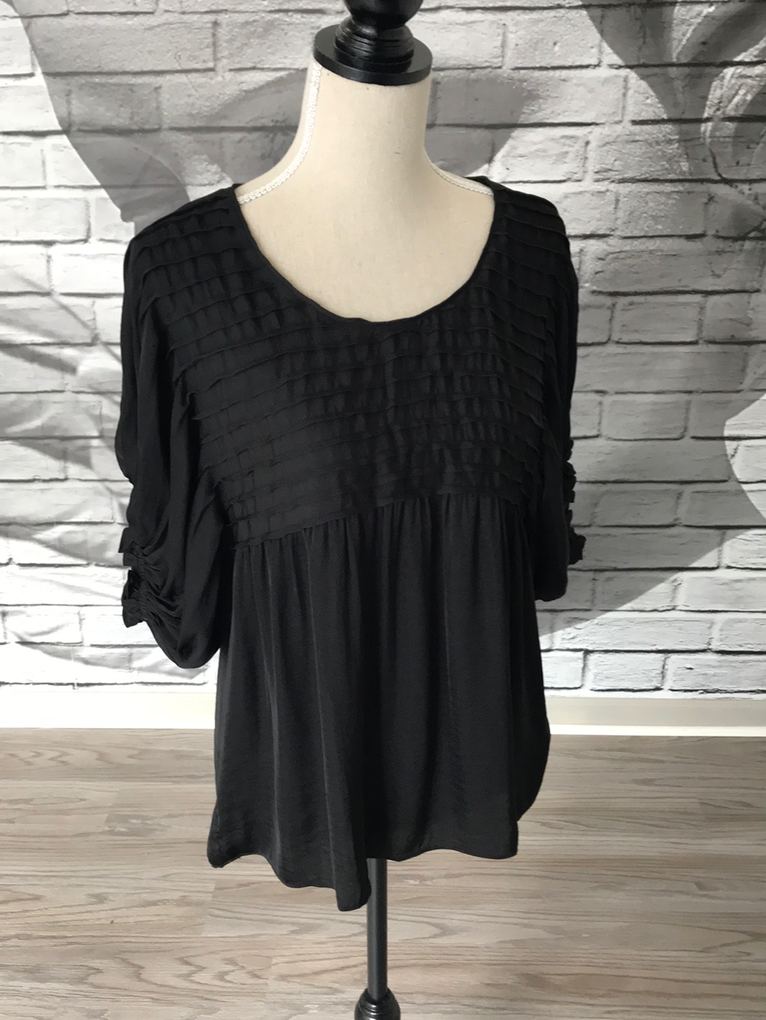 Boho Days Blouse in Pitch Black