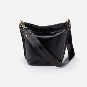 Flare Hobo Bucket Bag in Black