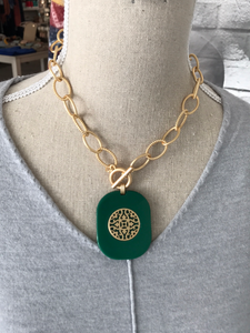 Inner Balance Necklace in Jade
