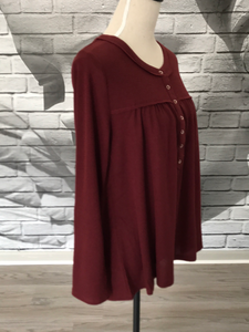 Janna Blouse in Ruby Wine
