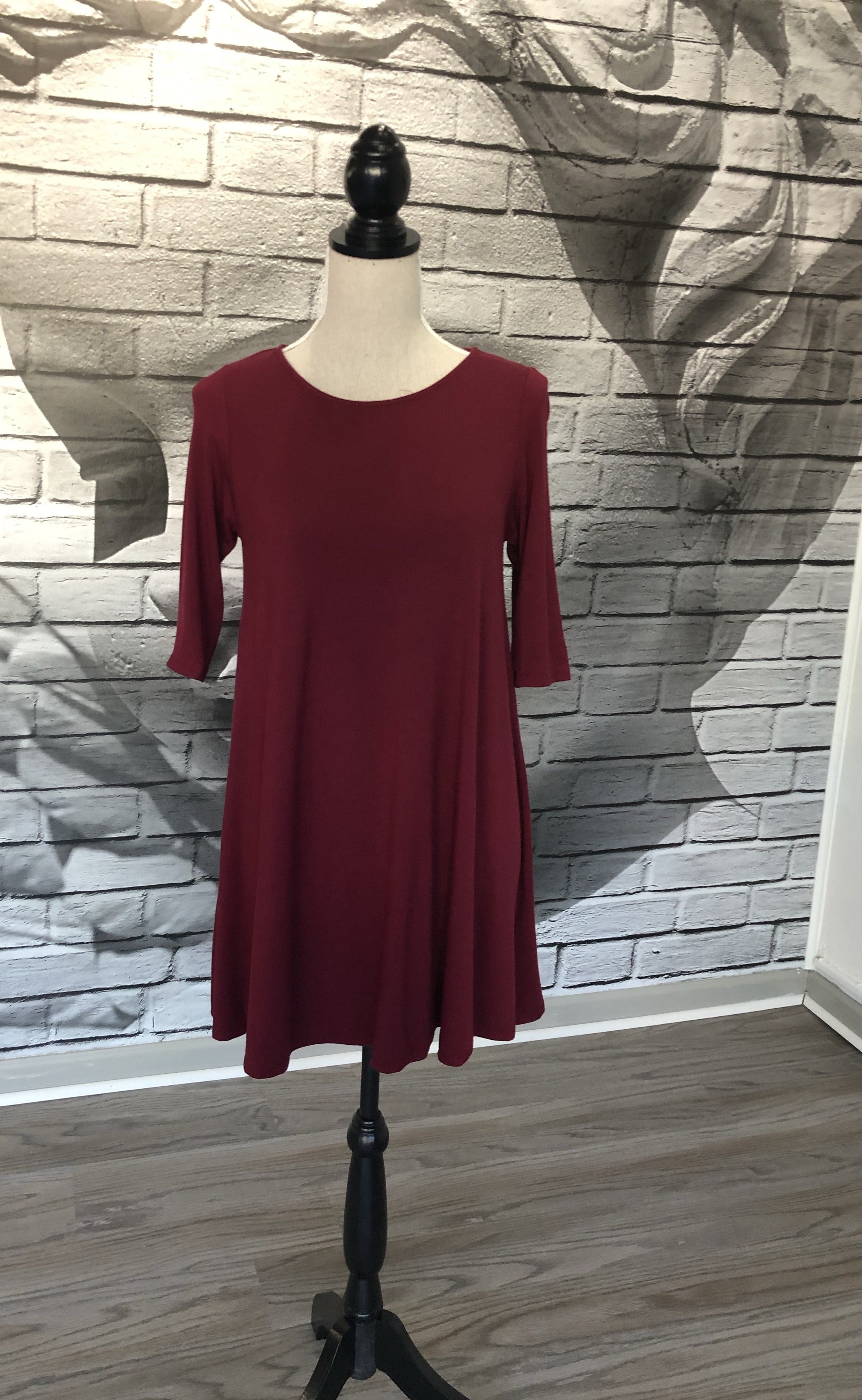 Jillian Bamboo Tunic in Wine