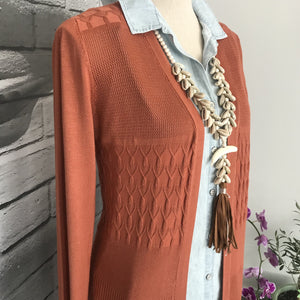 Sunset Sweater in Terra Cotta