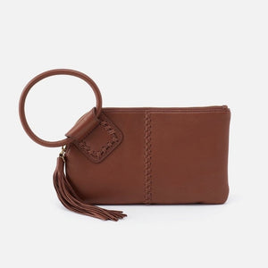 Sable Hobo Wristlet in Toffee