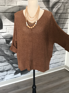 Mella Boyfriend Sweater in Mocha Latte