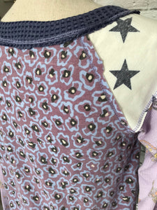 Star Flower Blouse in Heather