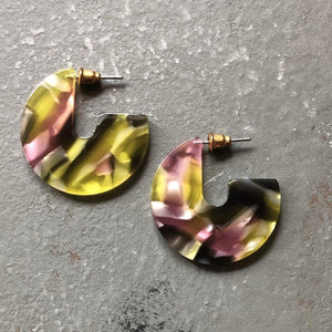Selena Marbled Earring in Secret Garden