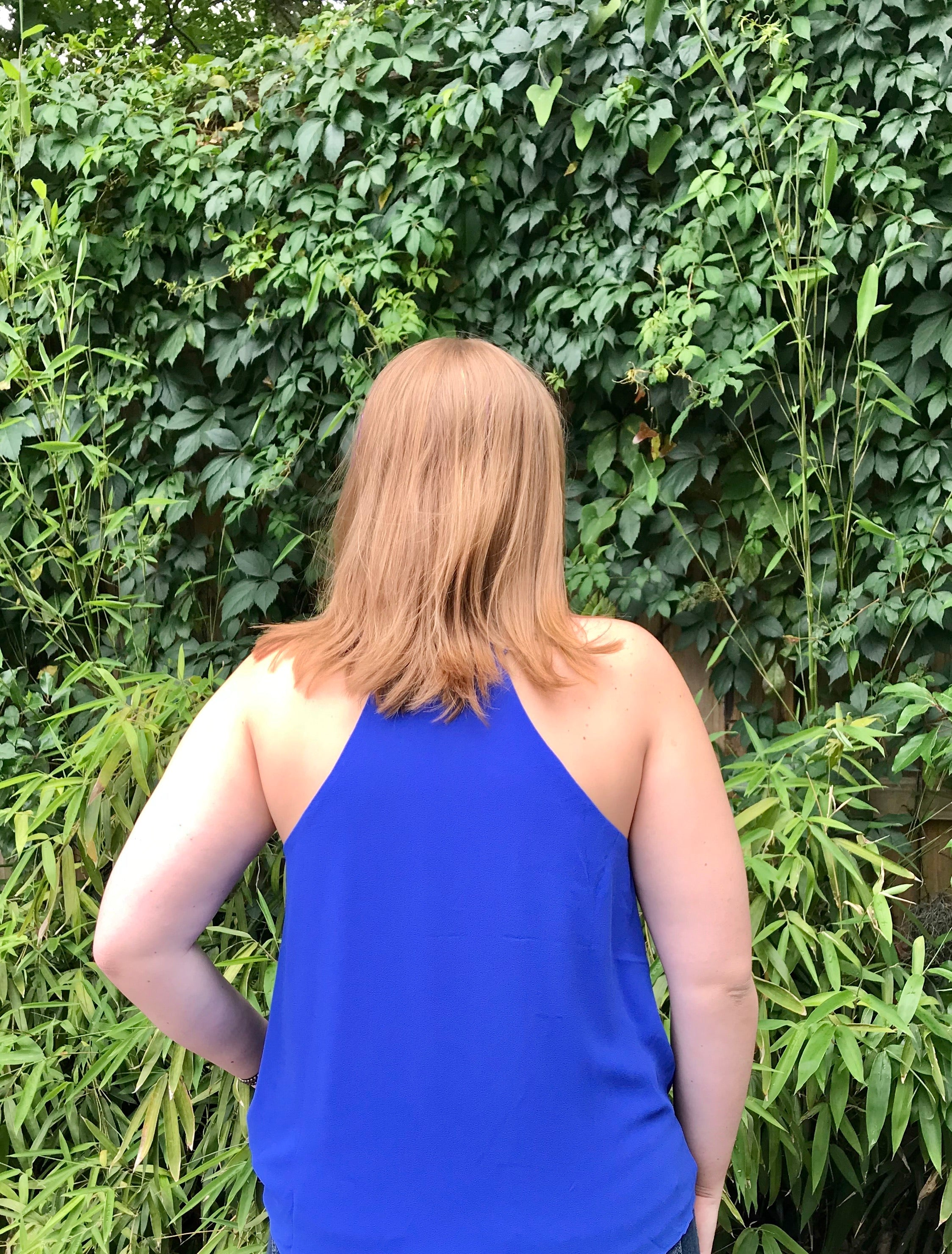 Maria Blouse in Royal Blue