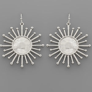 Sunshine Earrings in Silver