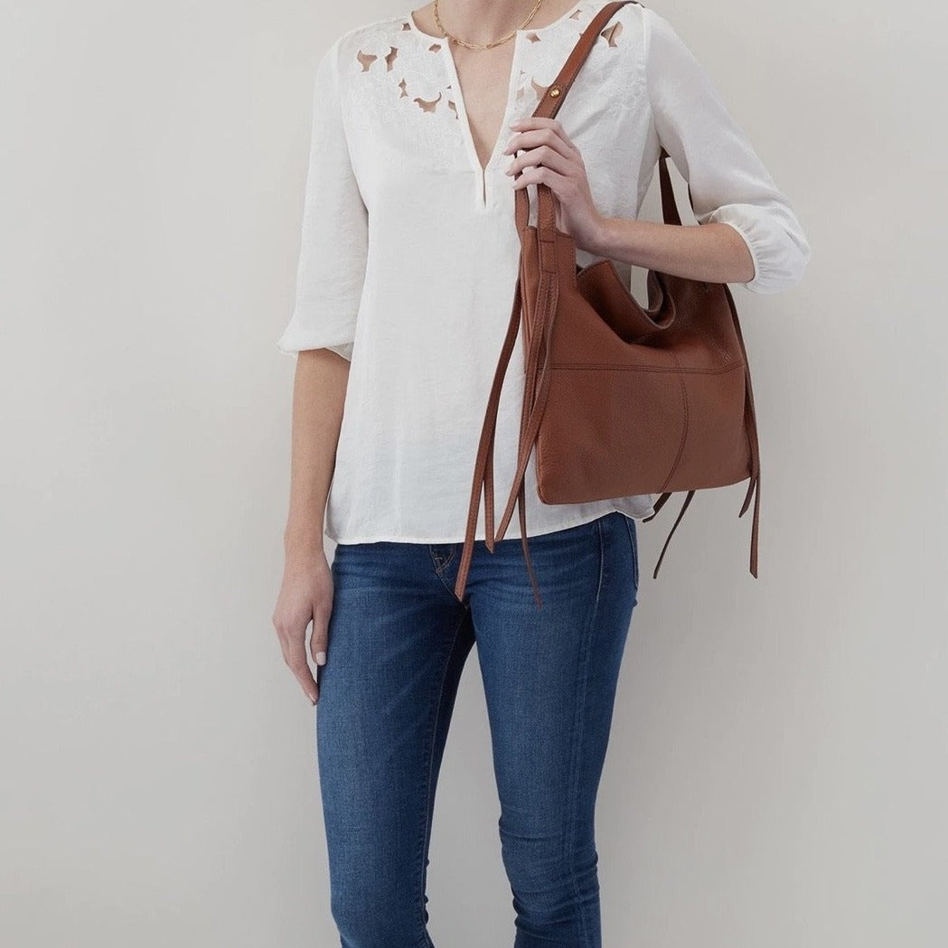 Promise Hobo Shoulder Bag in Toffee