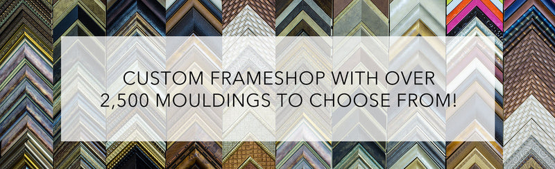 Banner image of Nevada Fine Arts' large selection of custom framing options