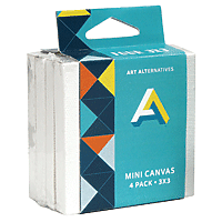 "Art Alternatives Mini Canvas 3""x3"" 4pk"